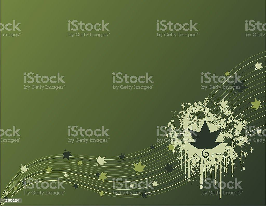 Drip & Wave Leaf Background vector art illustration