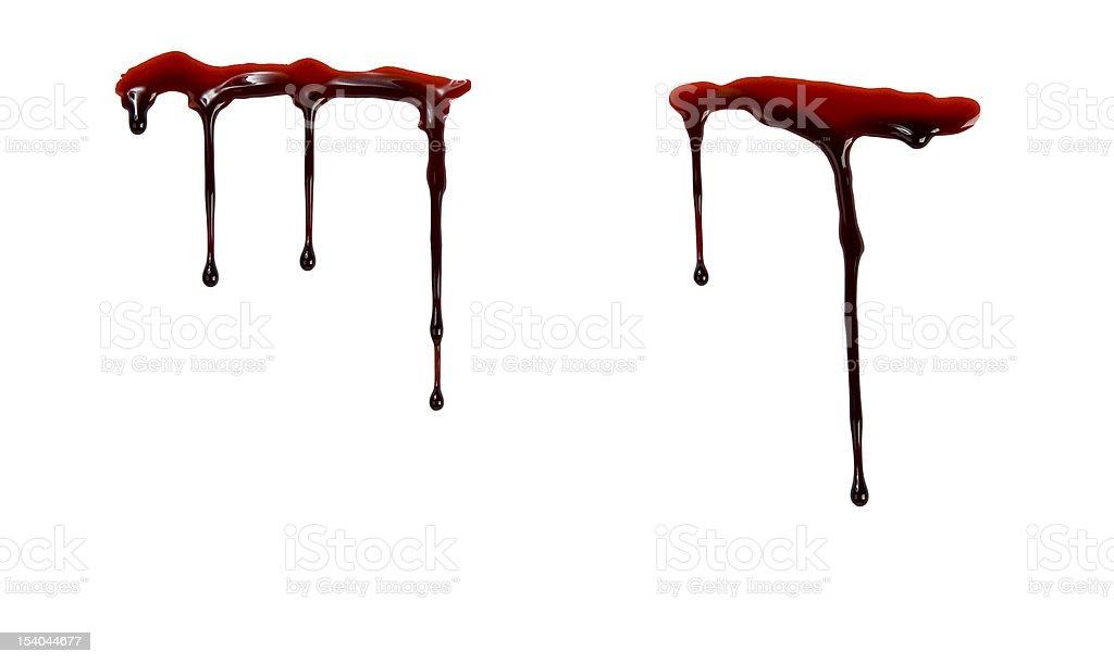 Dripping blood vector art illustration