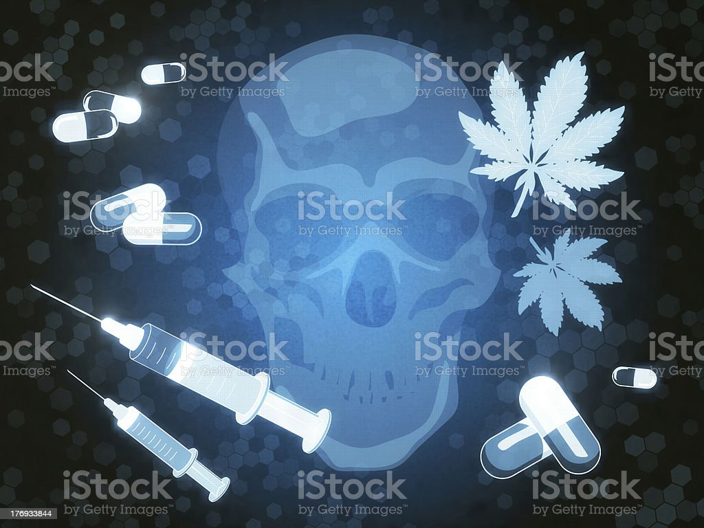 Drug Abuse vector art illustration