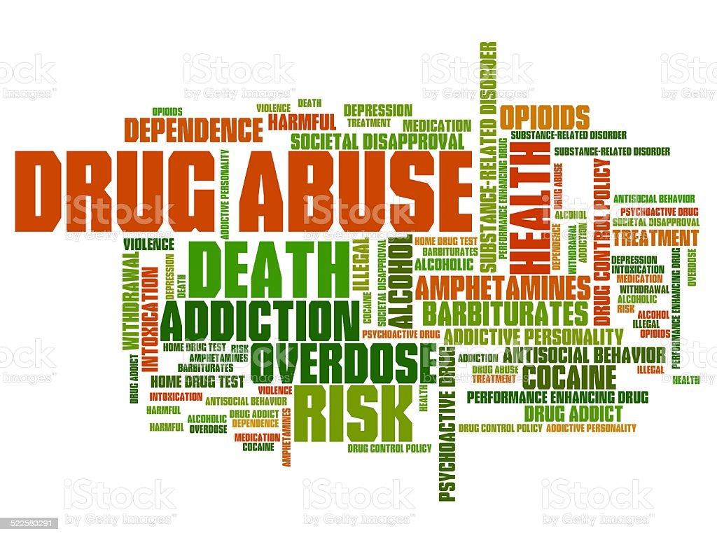 Drug addiction vector art illustration
