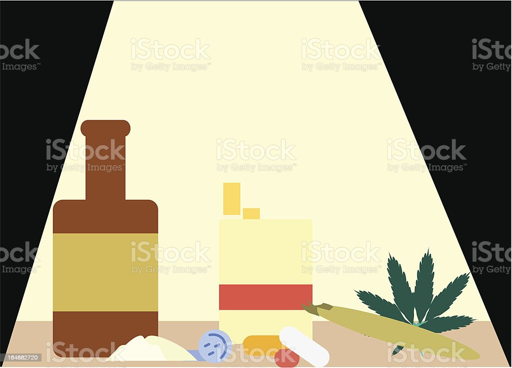 Drug Montage royalty-free stock vector art