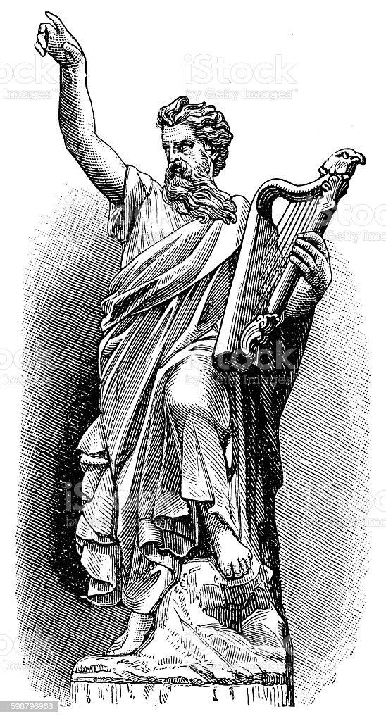 Druid vector art illustration