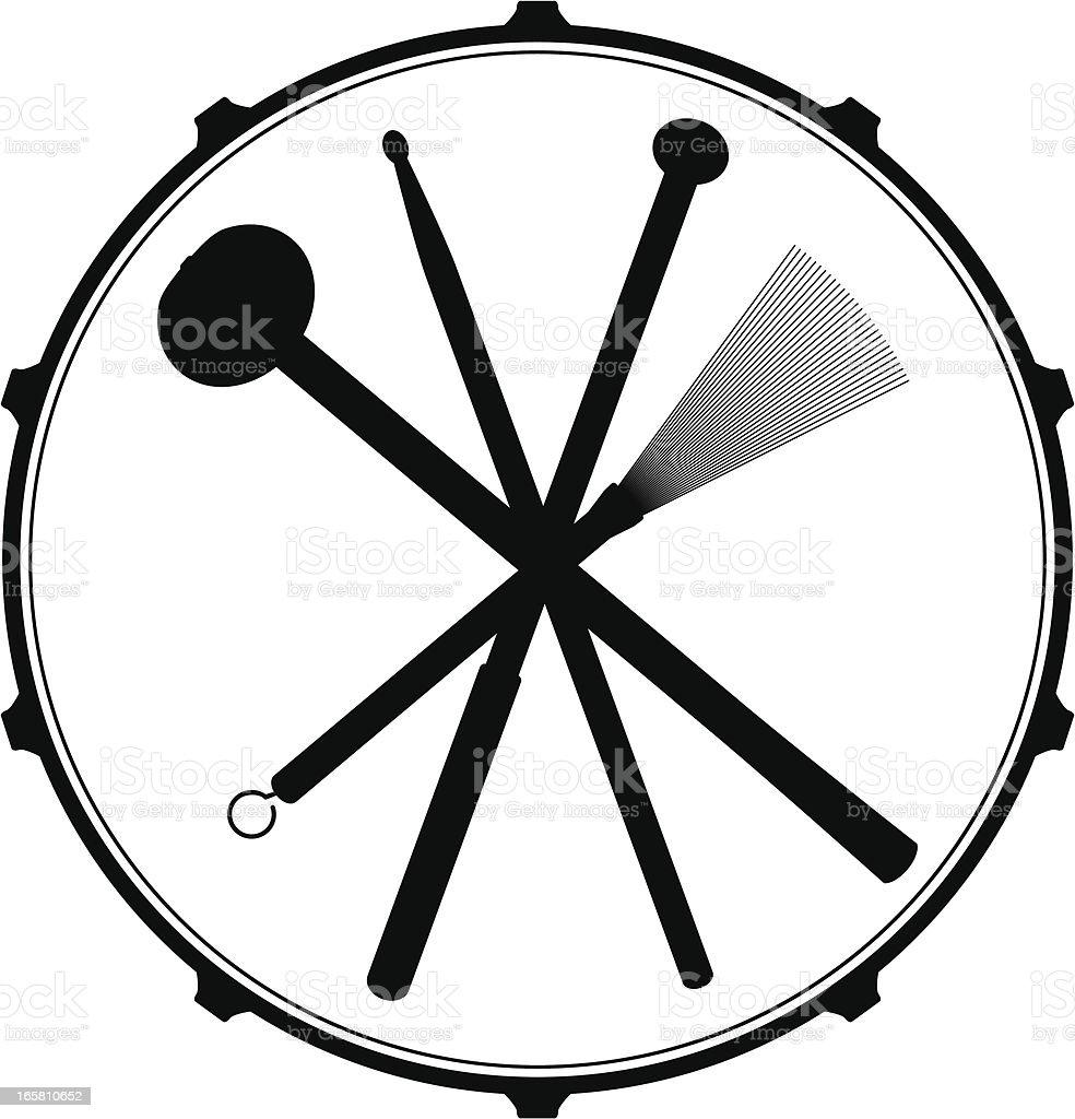 Drum Head Emblem vector art illustration