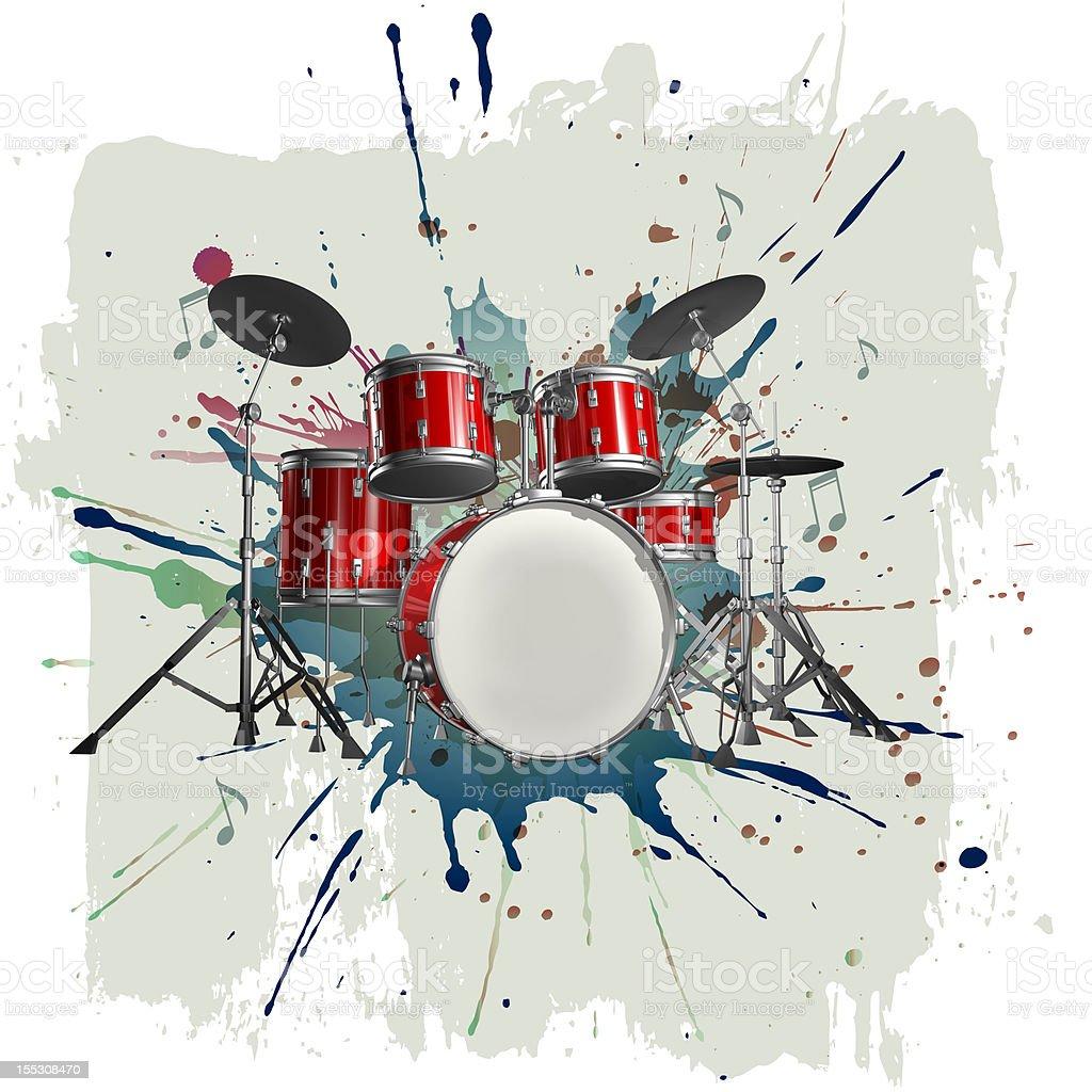 Drum kit royalty-free stock vector art