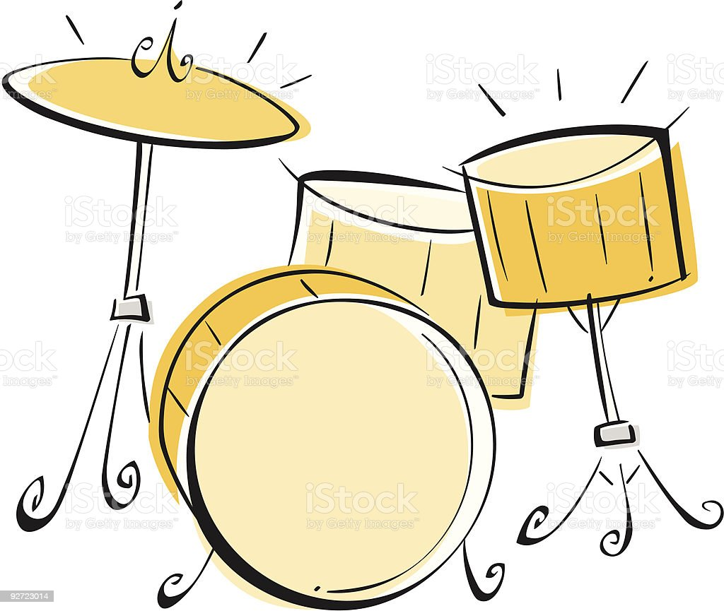 Drum Set royalty-free stock vector art