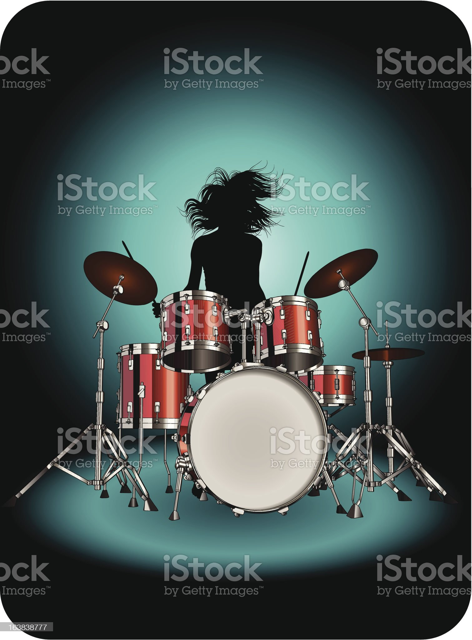Drummer royalty-free stock vector art
