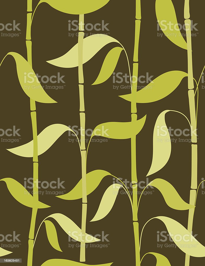 dry bamboos leaves royalty-free stock vector art