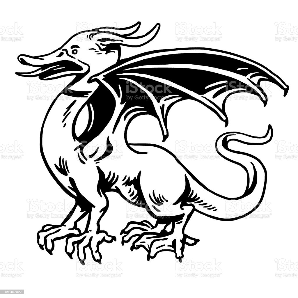 Duck Dragon royalty-free stock vector art