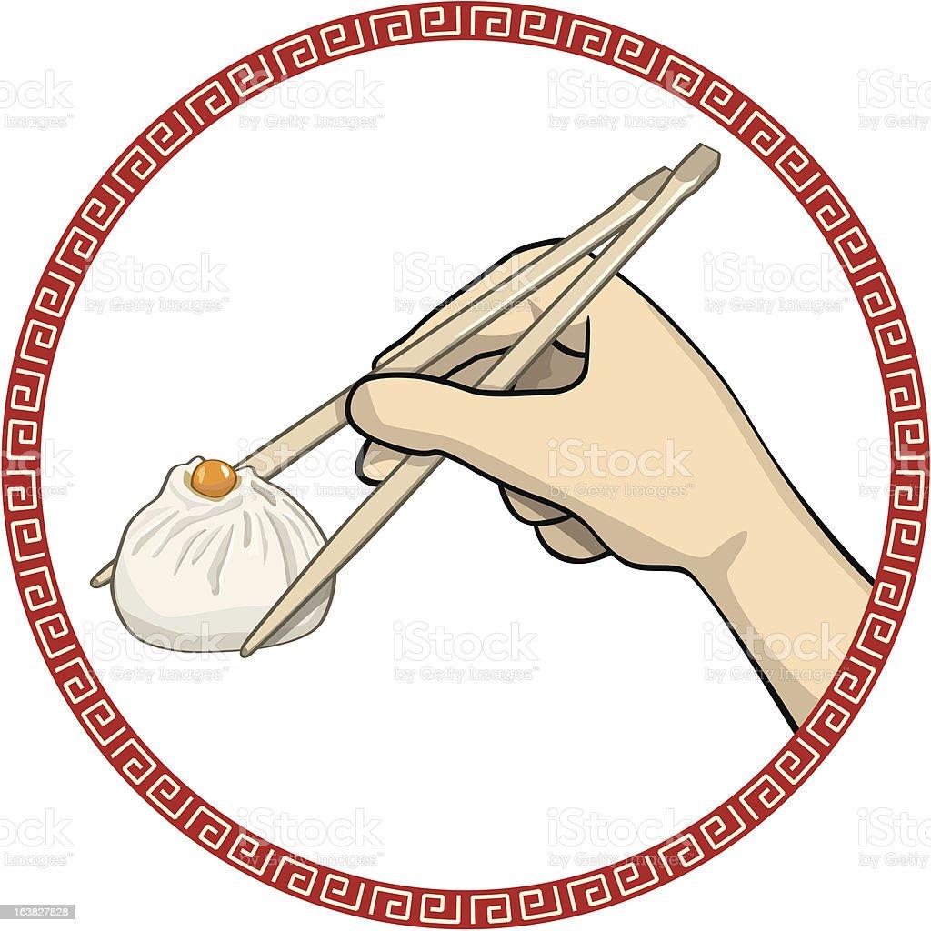 Dumpling vector art illustration