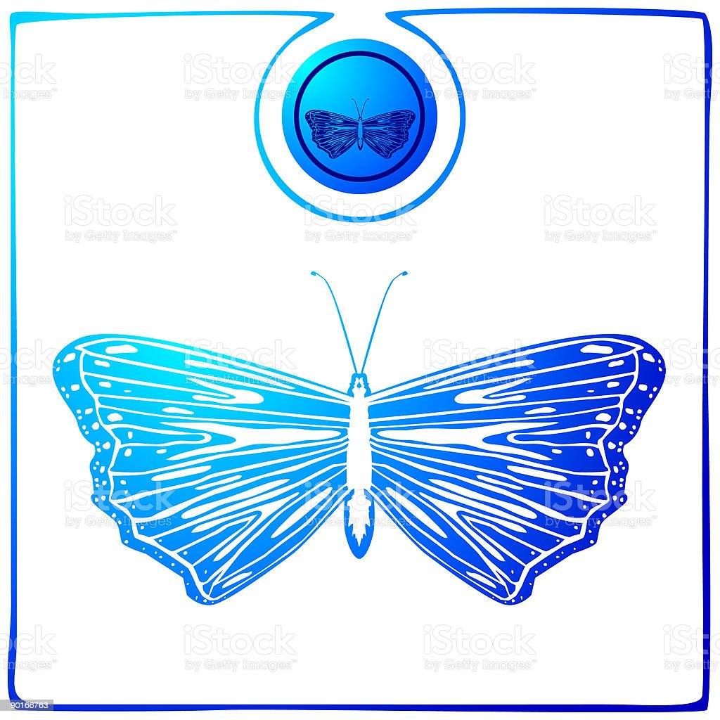 Duochrome Butterfly 03 royalty-free stock vector art