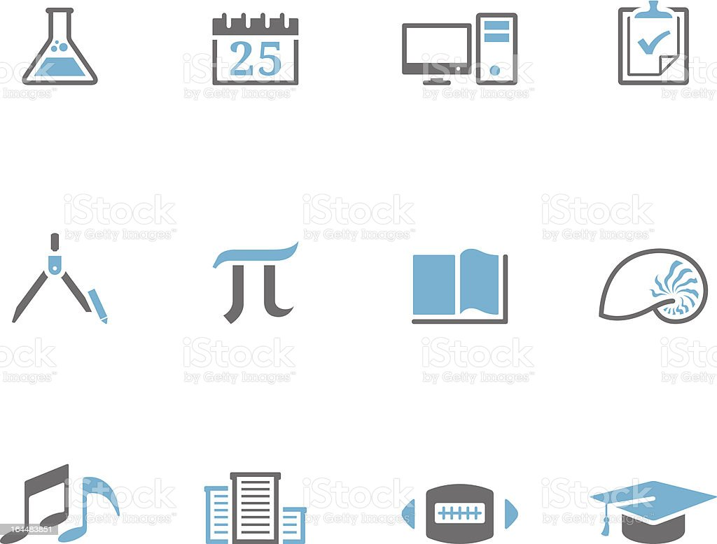Duotone Icons - More School royalty-free stock vector art
