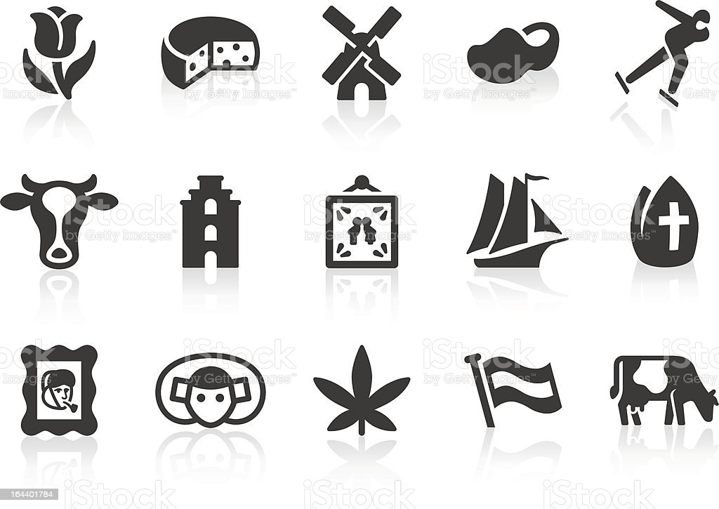 Dutch Culture icons vector art illustration