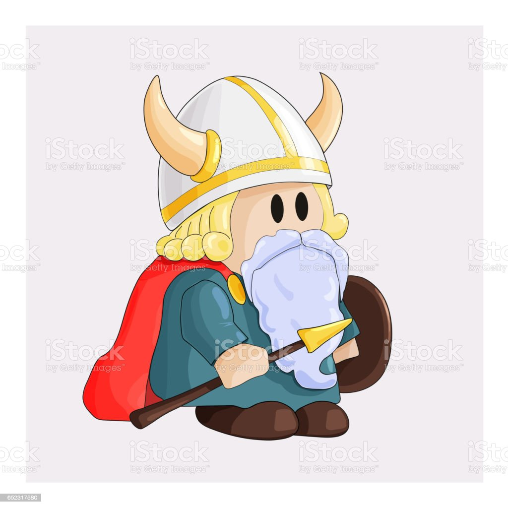 dwarf vector art illustration