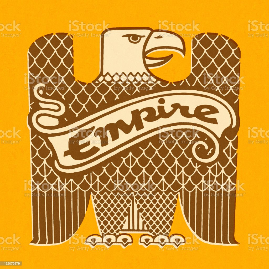 Eagle With Empire Banner royalty-free stock vector art