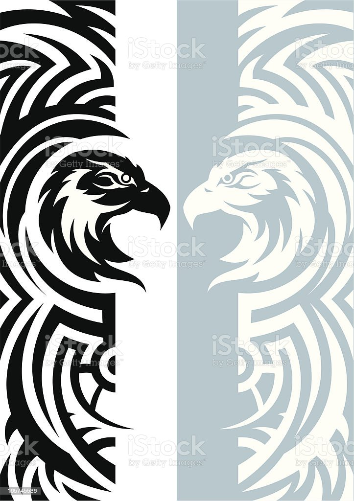 Eagle with pattern royalty-free stock vector art