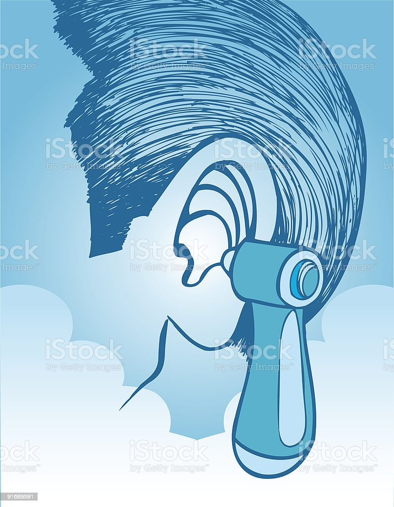 Ear Exam with an Otoscope vector art illustration