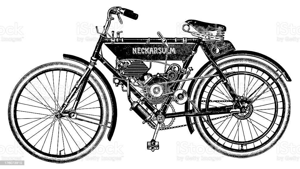 Early bicycle | Antique Transportation Illustrations royalty-free stock vector art
