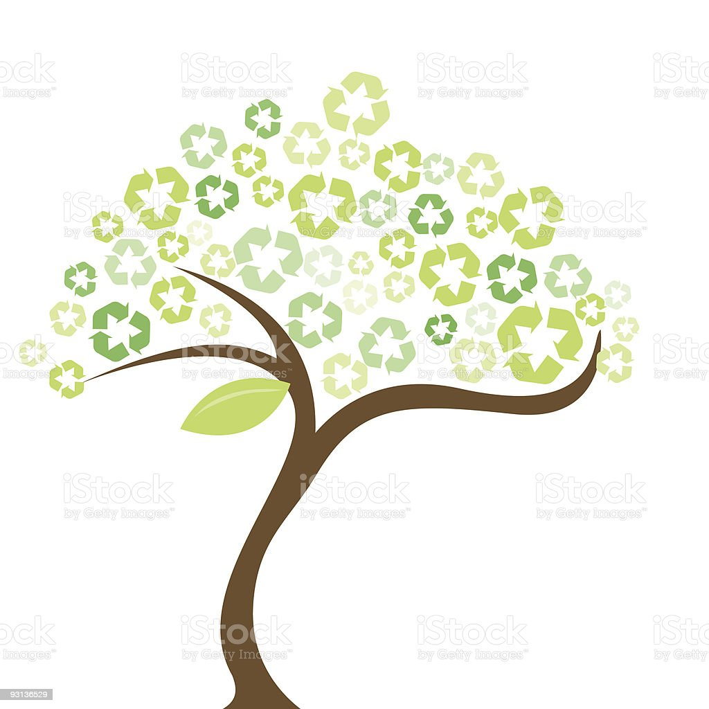 Earth Day Save The Trees Recycle stock vector art 93136529 ...
