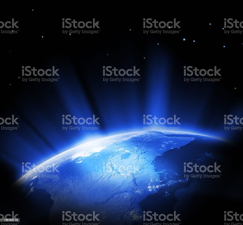 Earth in space royalty-free stock vector art