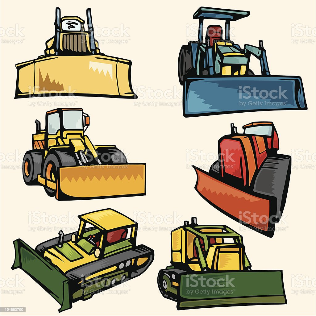 Earth Moving Vehicle Illustrations (Vector) royalty-free stock vector art