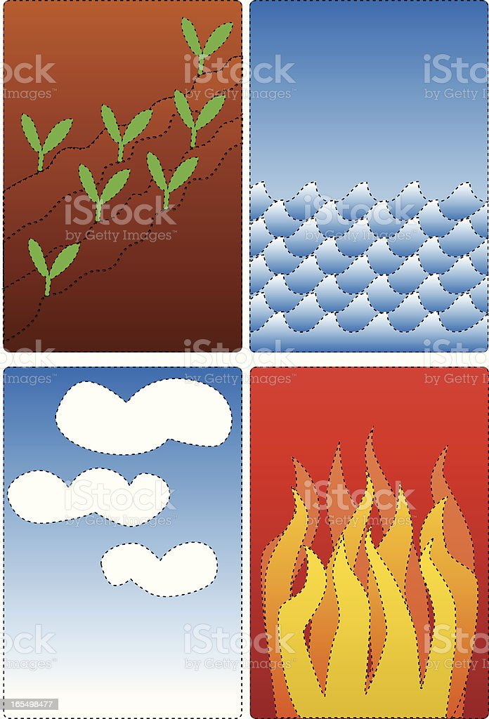 earth water air fire royalty-free stock vector art