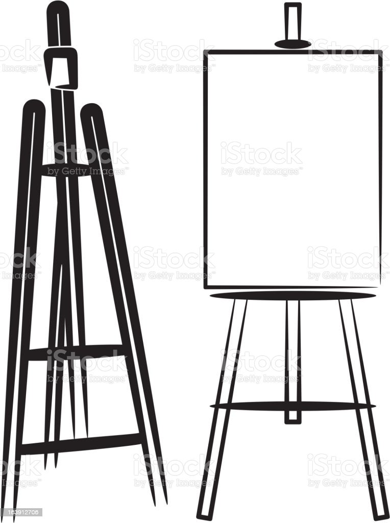 easels royalty-free stock vector art