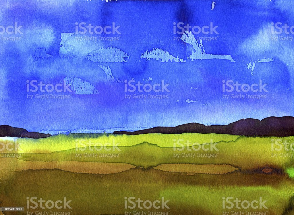 East Anglian landscape royalty-free stock vector art