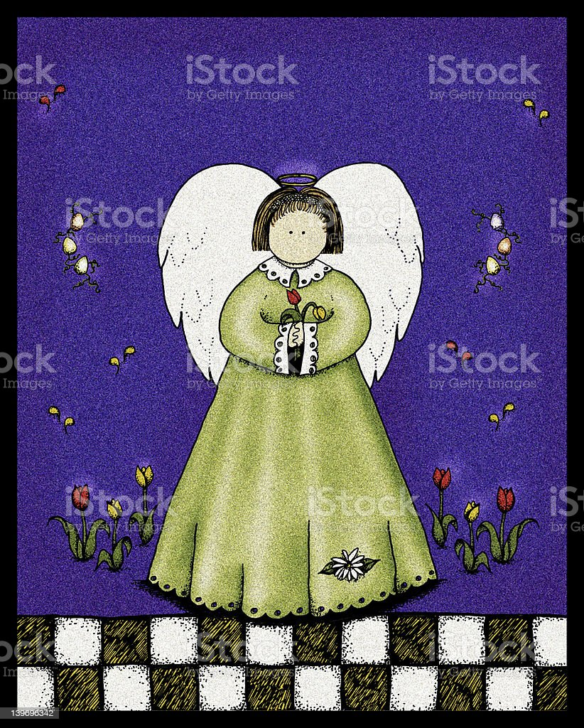 XXL Easter Angel Background royalty-free stock vector art