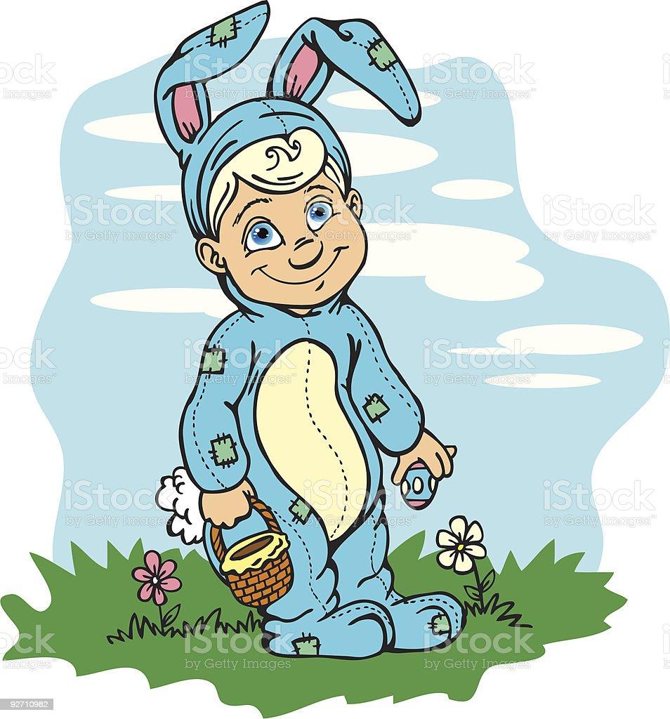 Easter Bunny Boy royalty-free stock vector art