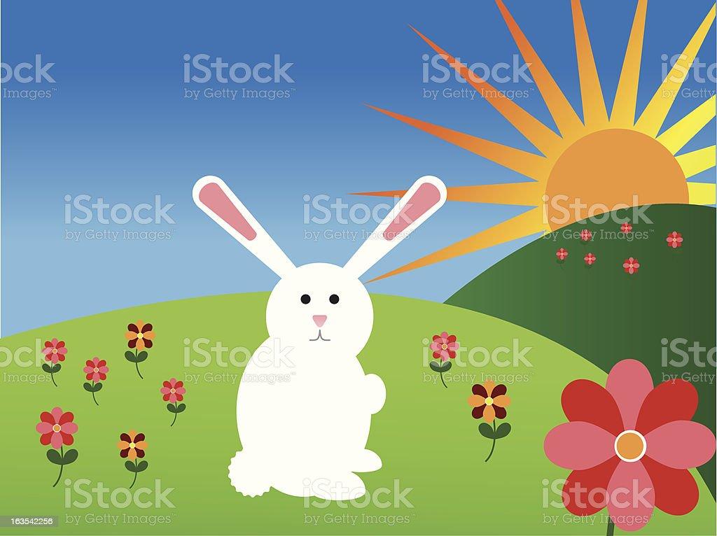 Easter Bunny [vector] royalty-free stock vector art