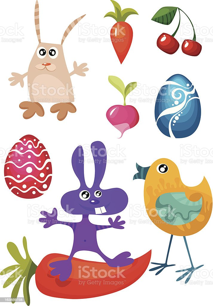 easter characters royalty-free stock vector art