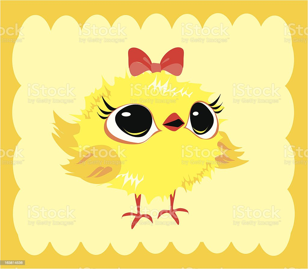 easter chicken royalty-free stock vector art