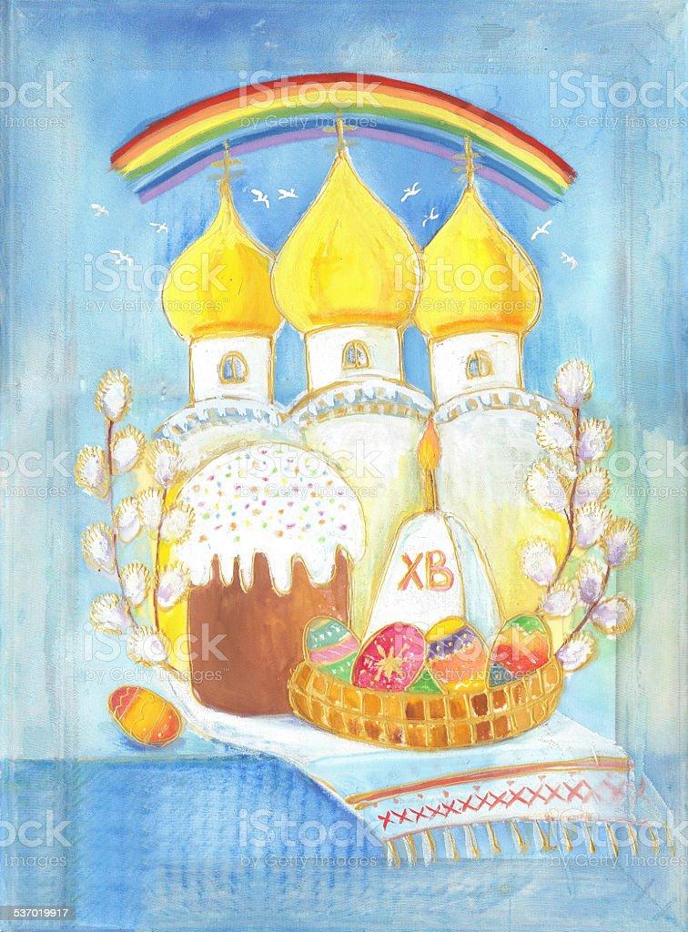 Cupola Pasqua Tempio di Batik illustrazione royalty-free