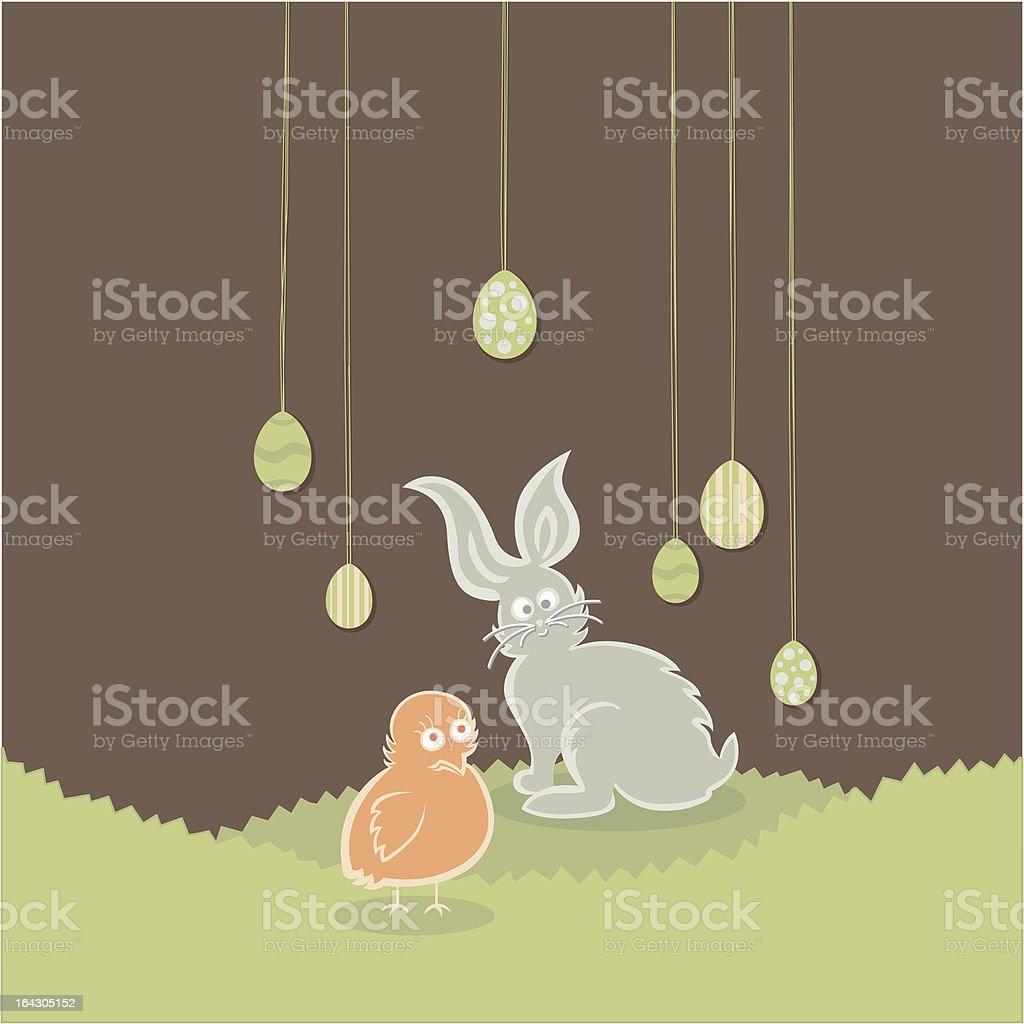 Easter Egg Garden royalty-free stock vector art