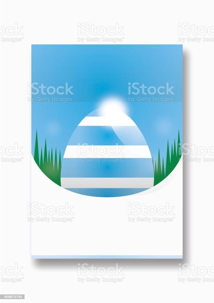 Easter egg poster design vector art illustration