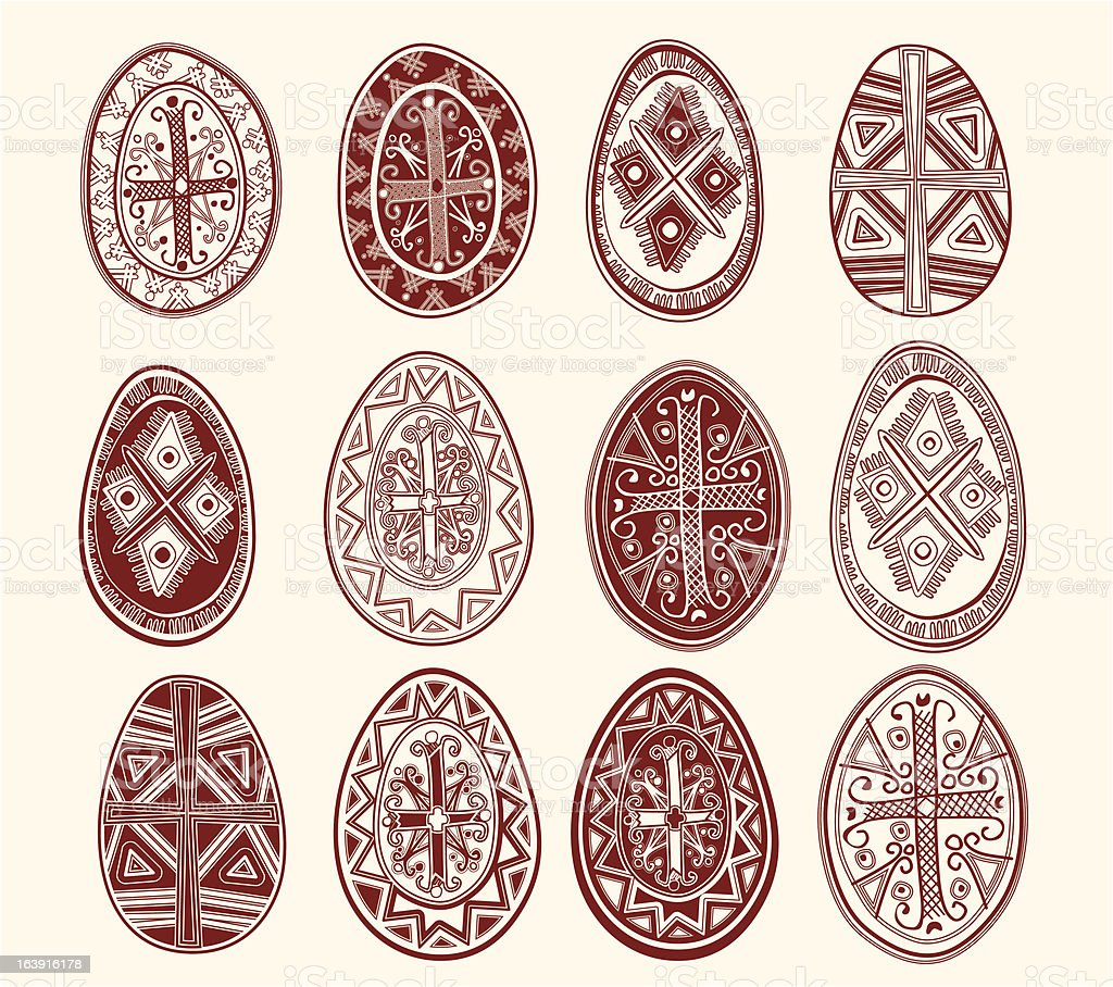Easter eggs. royalty-free stock vector art