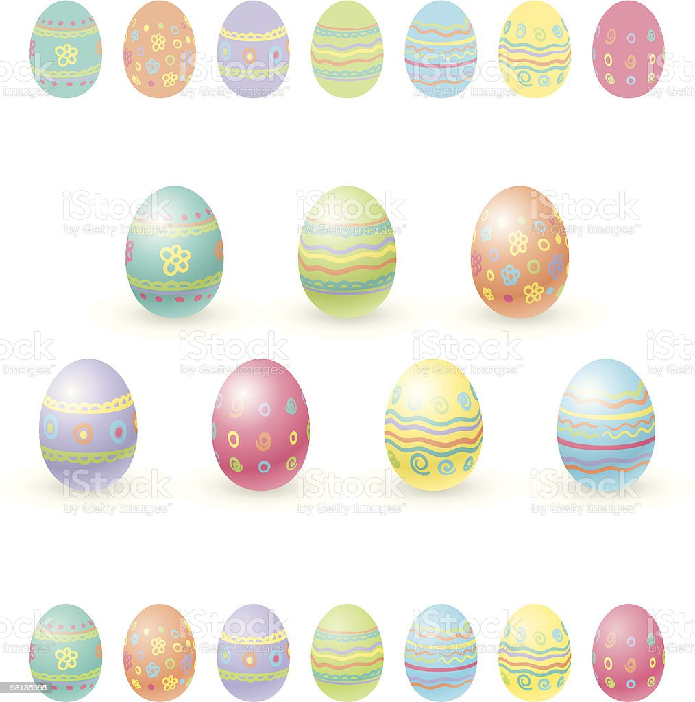 Easter eggs royalty-free stock vector art