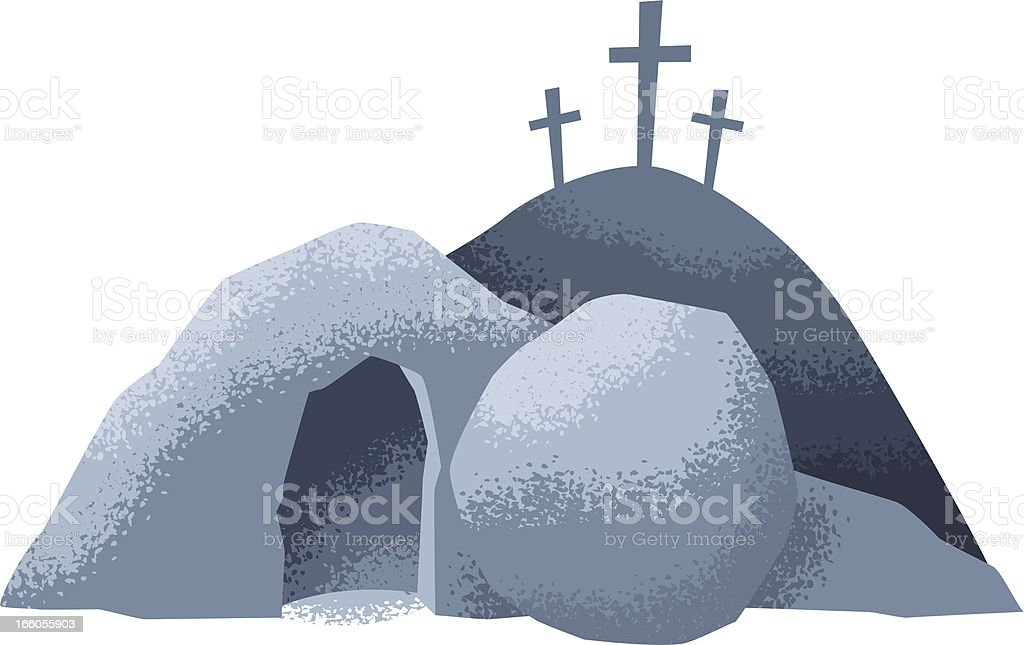 easter grave royalty-free stock vector art