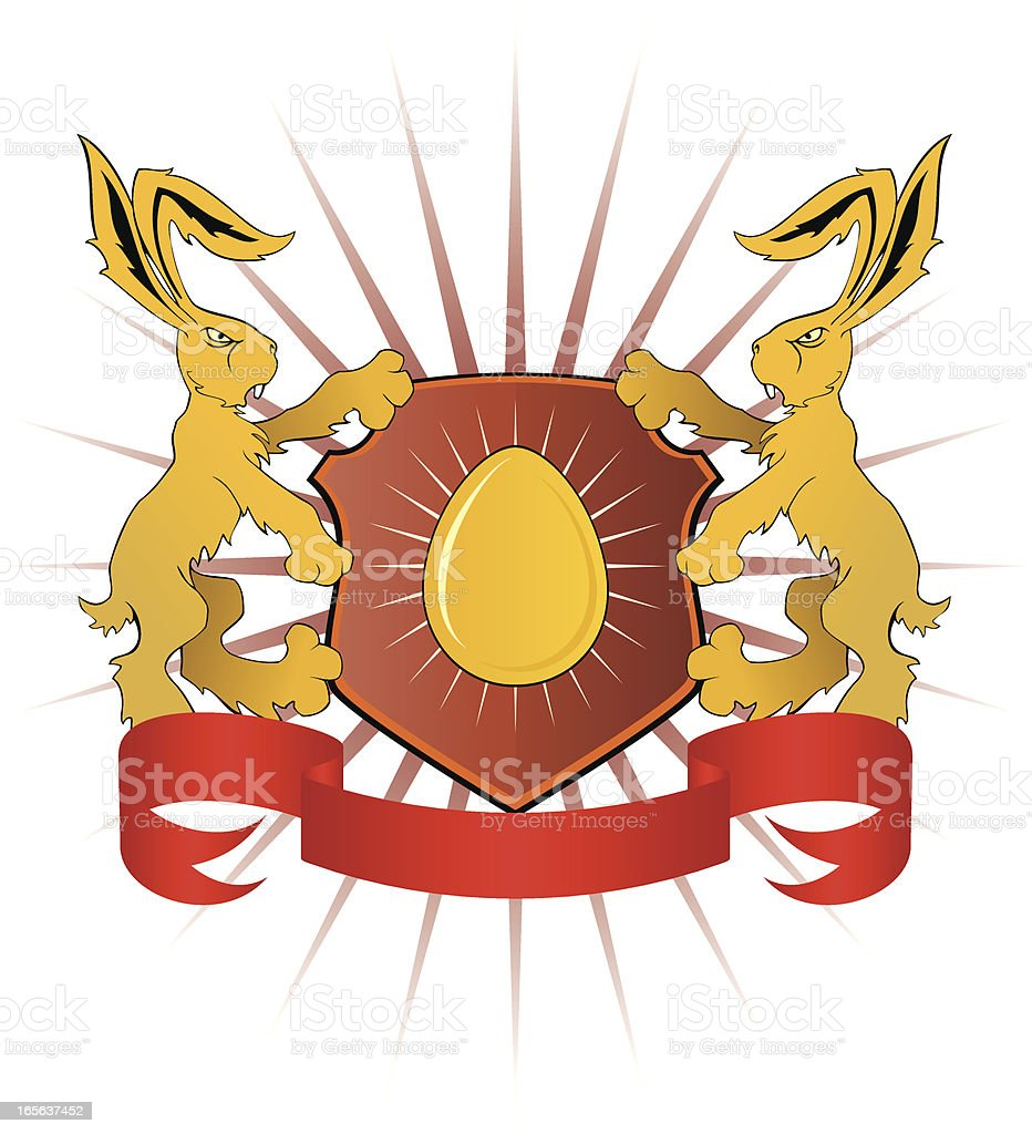 Easter heraldy royalty-free stock vector art