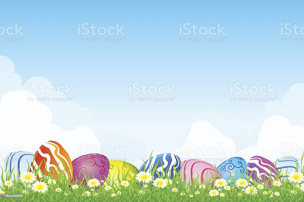 Easter Holiday Greeting Card royalty-free stock vector art