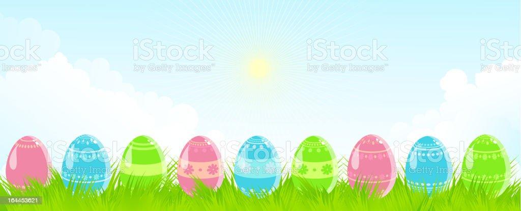 Easter landscape royalty-free stock vector art