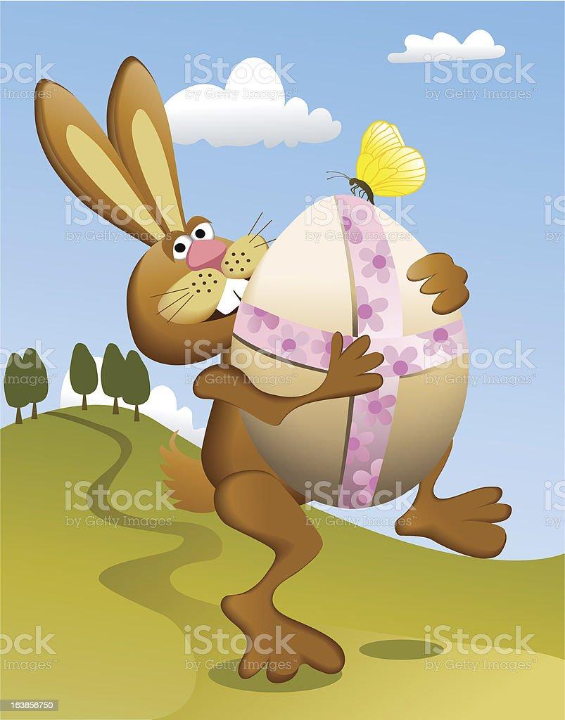 Easter rabbit royalty-free stock vector art