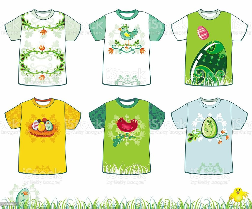 Easter t-shirts royalty-free stock vector art