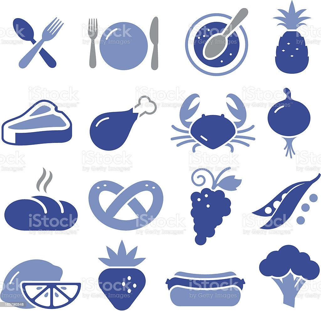 Eating Icons - Pro Series vector art illustration