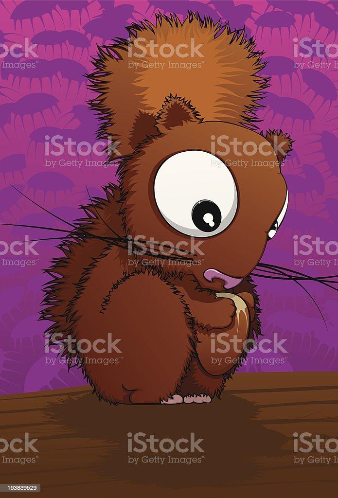 Eating squirrel vector art illustration