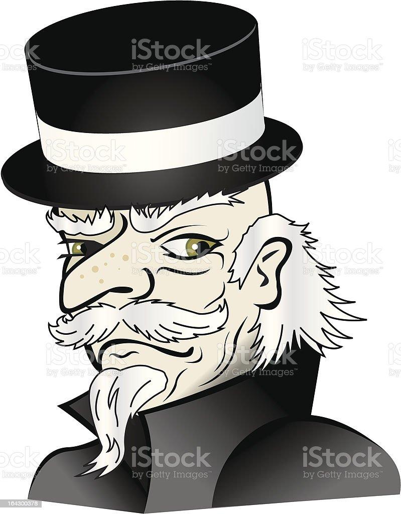 Ebenezer Scrooge - Bah humbug! royalty-free stock vector art