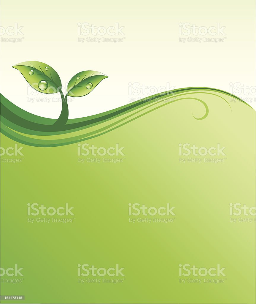 Eco background royalty-free stock vector art