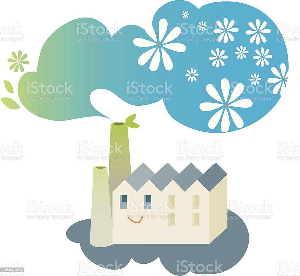 Eco Factory vector art illustration