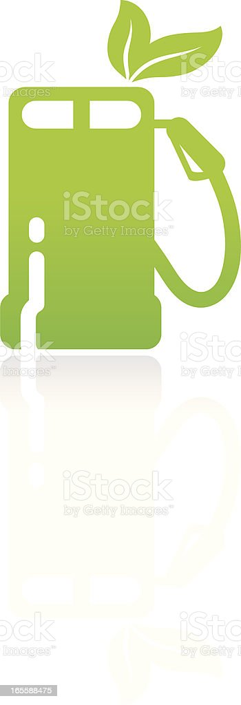 Eco gas pump vector art illustration