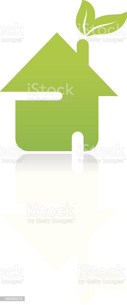 Eco house icon vector art illustration